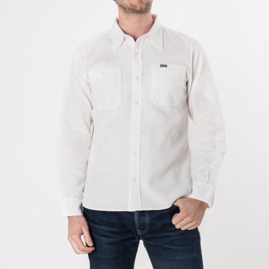 White Waffle Work Shirt