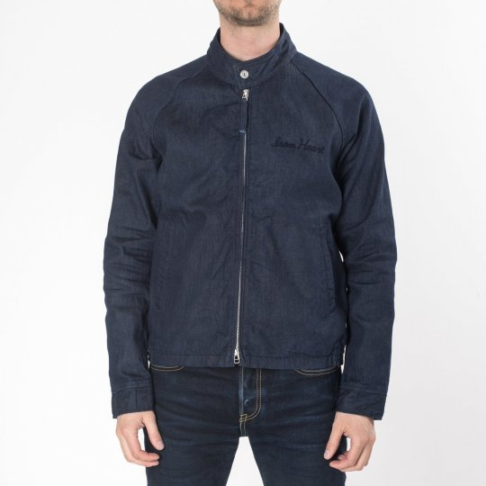Indigo 8oz Denim Drizzler Jacket