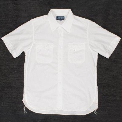 White US Navy Style 5.5oz Selvedge Short Sleeved Chambray Shirt