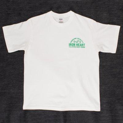 Printed Iron Heart Motorcycle Logo T-Shirt