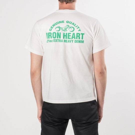 Printed Iron Heart Motorcycle Logo T-Shirt