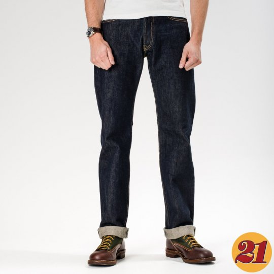 Indigo 21oz Selvedge Denim Straight Cut
