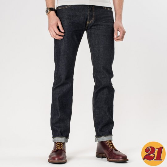 Indigo 14oz Selvedge Denim Super Slim Tapered