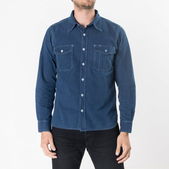 White US Navy Style 5.5oz Selvedge Chambray Shirt