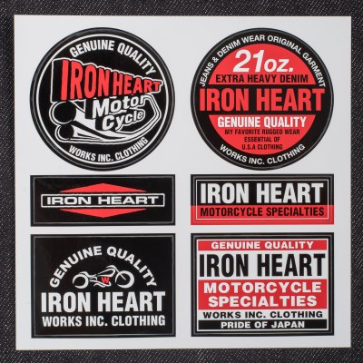 Black/Red Iron Heart Stickers