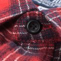 "Red 8oz Flannel Check Single Yoke Western ""Kanreki"" Shirt"