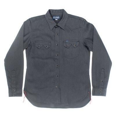 Grey 8.5oz Selvedge Denim Sawtooth Western Shirt