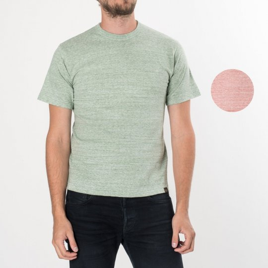 6oz Loopwheel Plain T-Shirts Green and Red
