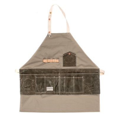 FAITH co. Ripstop Nylon Apron with Waxed Canvas Pockets
