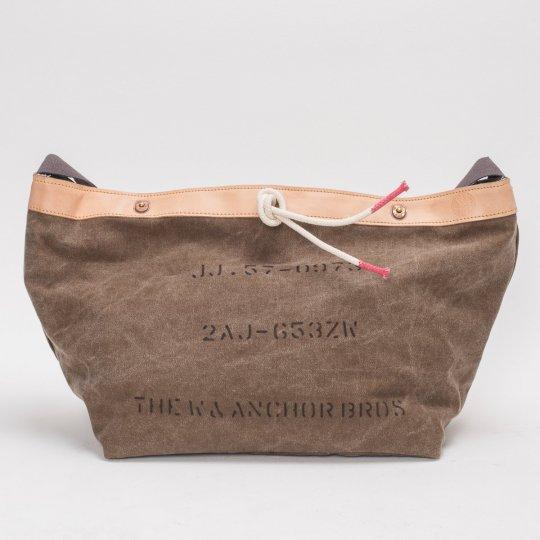 W & Anchor Khaki Canvas Messenger Bag