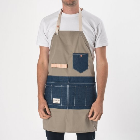 FAITH co. Ripstop Nylon Apron with Denim Pockets