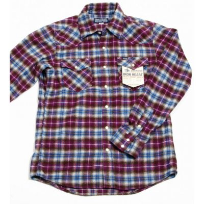 Small Check Flannel Western Shirt