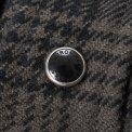 Grey/Black Ultra Heavy Flannel Glen Check Western Shirt