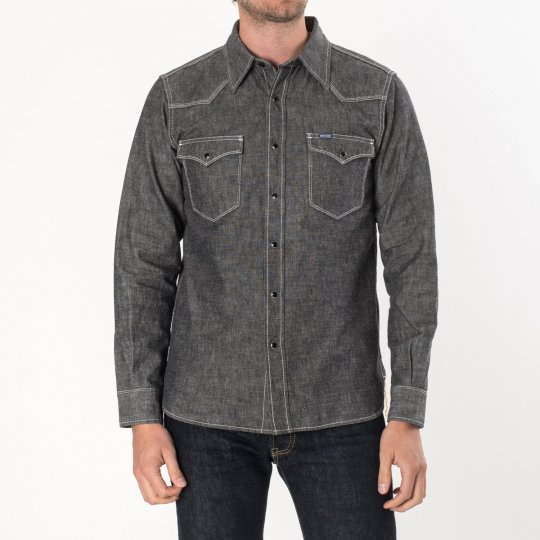 Black 10oz Selvedge Chambray Western