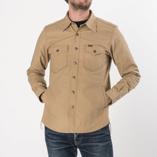 Khaki Cotton Ripstop CPO Shirt