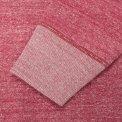 Heavy oopwheel Fleece Lined Sweater - Grey & Red Marl