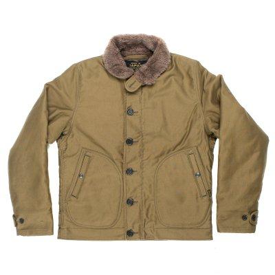 Alpaca Lined Whipcord N1 Deck Jacket - Black, Grey and Khaki