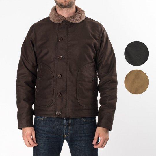 Brown, Black or Khaki Alpaca Lined Whipcord N1 Deck Jacket