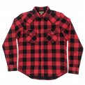 Red/Black Ultra Heavy Buffalo Check Western