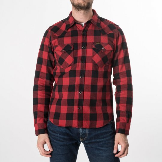 Red/Black Ultra Heavy Buffalo Check Western