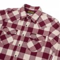Maroon/Cream Ultra Heavy Buffalo Check Western