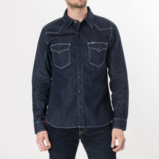 Indigo 7oz Selvedge Denim Western Shirt