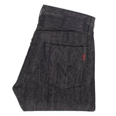 Black / Beige 21oz Selvedge Denim Straight Cut Jean