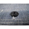 Indigo Dyed Houndstooth Chambray Work Shirt