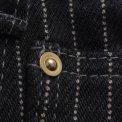 Black 21oz Wabash Single Knee Slim Cut Logger Jeans