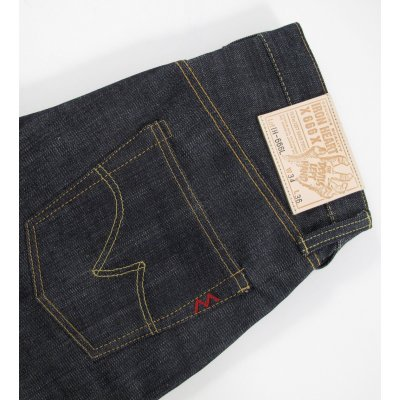 Indigo 14.5oz Raw Selvedge Left Hand Twill Slim Cut Jean