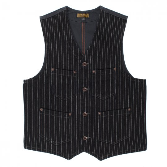 21oz Black Wabash/Black Duck Work Vest
