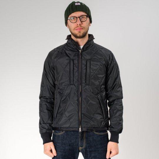 Black PrimaLoft™ Quilted Rider's Jacket