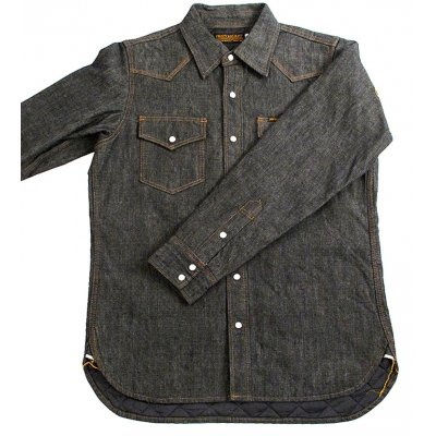 Quilt Lined Heavy Chambray Western Shirt