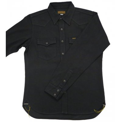 The Johnny Cash - Black 12oz Selvedge Denim Western Shirt