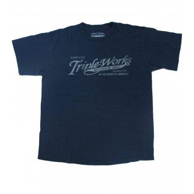 5.5oz Loopwheeled Triple Works Logo T-Shirt