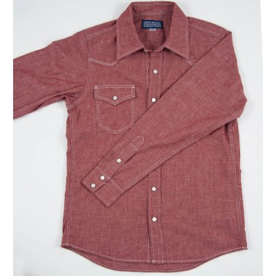 Light/Medium Weight Deep Red Chambray Western