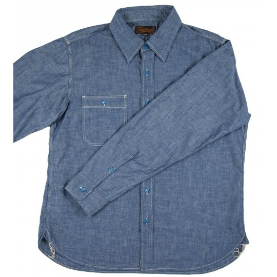 Organic Cotton/Natural Indigo 5.5oz Chambray Work Shirt