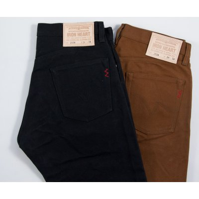 Paraffin Coated 22oz Cotton Duck Five Pocket Jeans - Brown or Black