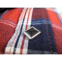 Indigo Check Western Shirt - Blue and Red
