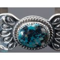 Silver and Turquoise Bangle