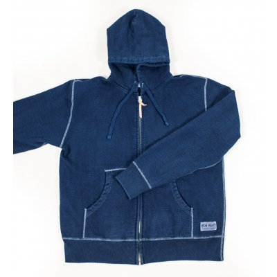 Ultra Heavy Flat Seamed Indigo Dipped Hoody