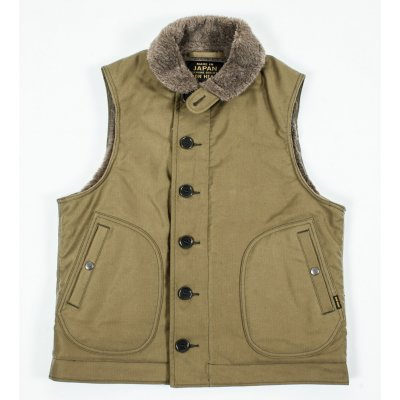 Alpaca Lined Whipcord N1 Deck Vest