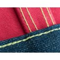 18.8oz Raw Indigo Selvage Denim/Scarlet Flannel Type III jacket