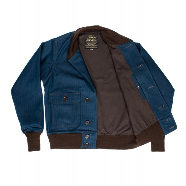 IHJ-36 | Iron Heart Cotton Herringbone A-1 Type Bomber Jacket