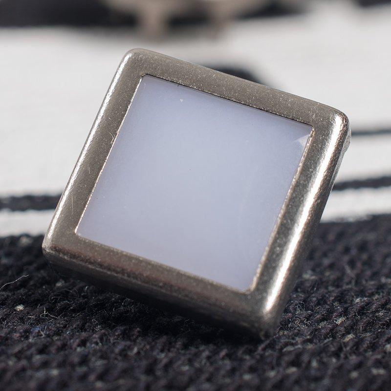 White Diamond Shape Snap